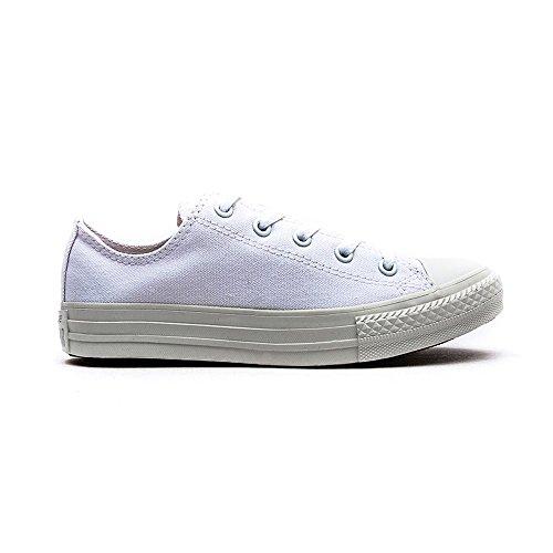 Converse Chuck Taylor All Star Wash Neon Ox, Baskets mode mixte enfant bianco(White Monochrome)