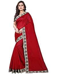 Aaradhya Fashion Women's Bhagalpuri Kalmkari Pritnted Saree With Blouse Piece (Multicolour)