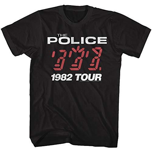 The Police British Rock Band 1982 Ghost in The Machine Tour Album T-Shirt - Schwarz - 4X-Groß -