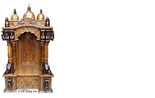 Shilpi Handcrafted Wooden Home Temple / Wooden Temple / Pooja Mandir / Mandap / Wooden Temple / Mandir /Antique Carved Temple