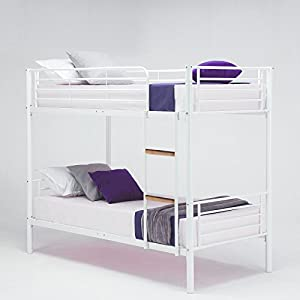 Single Sleeper Bunk Bed Metal Single Twin 2 Children's Bunk Bed