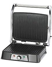 Glen 2000W Stainless Steel Grill and Sandwich Maker Black