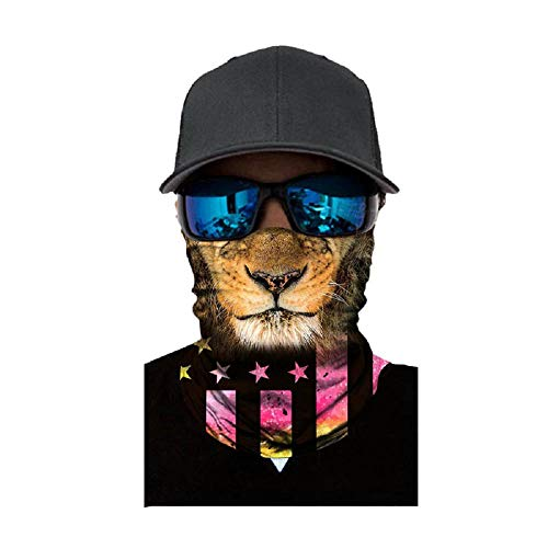 NINGSANJIN Face Shield Sturmhaube ,viele verschiedene Designs* Multiunktionstuch Maske Fishing Totenkopf Schal Skull Bandana Gesichtsmaske Halstuch Ski Motorrad Paintball Face Shields Maske (Q)