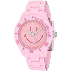 "Smiley ""Happy Time"" Ladies Pretty Pastel Pink Analogue Watch WGS-PPPKV01"