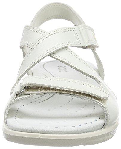 Ecco BABETT Damen Slingback Sandalen Weiß (SHADOWWHITE 1152)