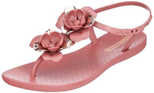 Ipanema Floral Sandal Fem, Chiusura a T Donna, (Burgundy/Rose 9142), 40 EU
