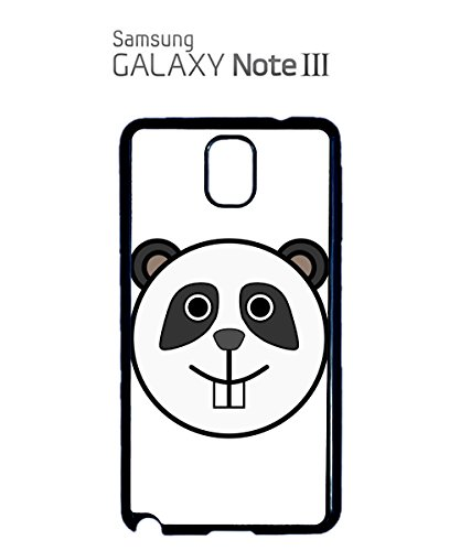 Panda Cute Logo Emblem White Bear Black Mobile Phone Case Samsung Note 3 White Noir