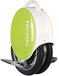 """Run & Roll Two Rabbits - Monociclo eléctrico de doble rueda, color blanco / verde, 14"""""""
