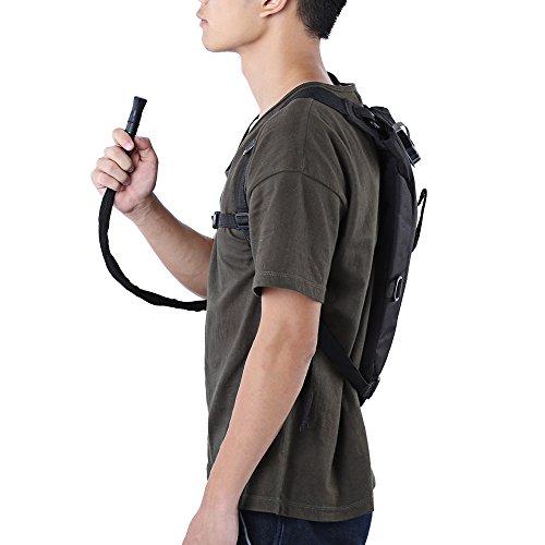 3L leicht Wasser Kantine Tasche Rucksack mit Schlauch für die Jagd Klettern Laufen und Wandern schwarz