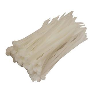 All Trade Direct Kabelbinder, 100 x 2,5 mm, alle Größen, 100 Stück weiß