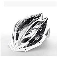 XDXDWEWERT Bicicleta Hombres Mujeres Casco de Bicicleta de ventilación de una Pieza Casco de Bicicleta de montaña porosa (Negro + Blanco)