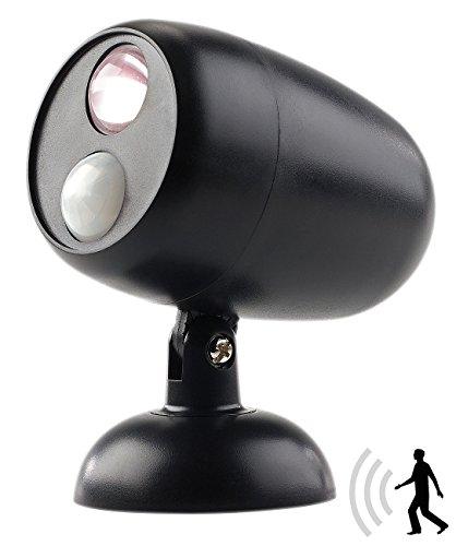 Lunartec Nachtischlampe: LED-Wand- & Stand-Leuchte mit Bewegungserkennung, 0,5 Watt, 35 Lumen (Leuchte mit Bewegungsmelder)
