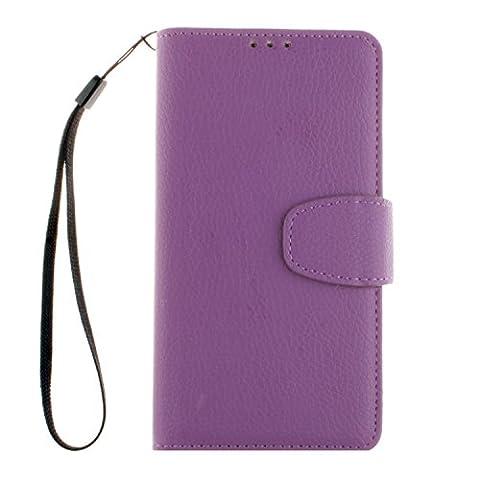 PU Leder Lila Schutzhülle für LGLBello(D331,D335)/LGLPrime(D337) case Wallet Schale Tasche