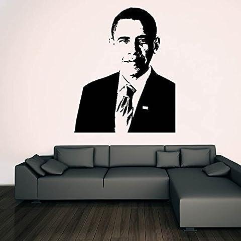 Barack Obama Wall Sticker Icon Adesivo Art disponibile in 5 dimensioni e 25 colori Grande Verde