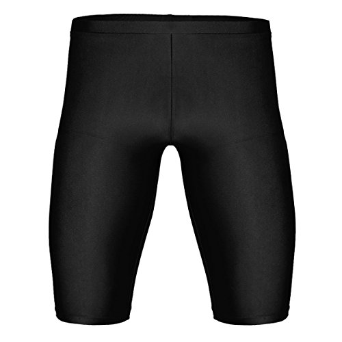 Tiaobug Herren Laufhose Sporthose Fitnesshose Trainingsshorts Männer Sports Tights Leggings Kurze Hose Pants mit Kompression und Quick-Dry Kompressionshose Funktionswäsche Schwarz XL(Taille 81-114cm) -