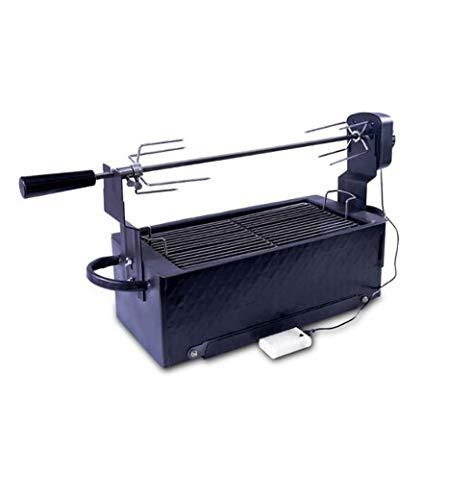 ZTYD Barbacoa de carbón Parrilla giratoria automática Parrilla Exterior pequeña Parrilla portátil para Exteriores
