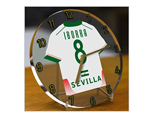 Reloj de sobremesa, diseño de camiseta de fútbol de La Ligaespaño