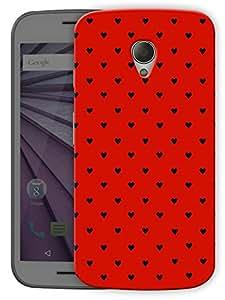 "Humor Gang Cute Little Hearts - Black Printed Designer Mobile Back Cover For ""Motorola Moto G2"" (3D, Matte Finish, Premium Quality, Protective Snap On Slim Hard Phone Case, Multi Color)"