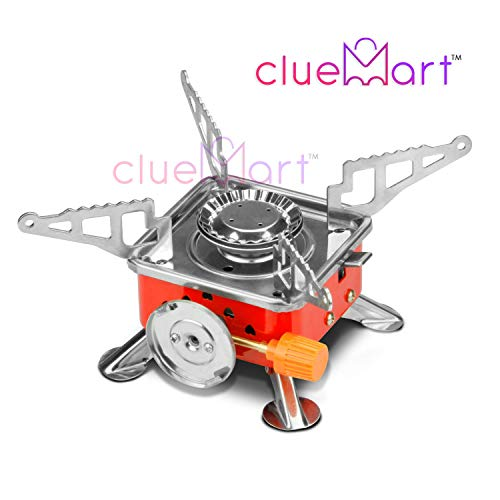 CluemartTM Outdoor Portable Square-Shaped Gas Butane Burner Camping Picnic Folding Stove with Storage Bag