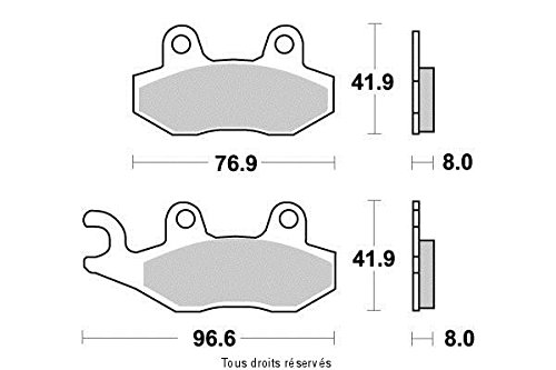 Preisvergleich Produktbild BREMSBELGE HALB METALIC KEEWAY OUTLOOK 125 2007-2010 HINTER ( KYOTO )