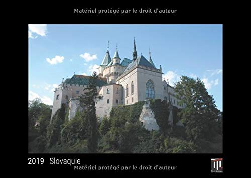 Slovaquie 2019 édition noire calendrier mural timokrates calendrier photo calend