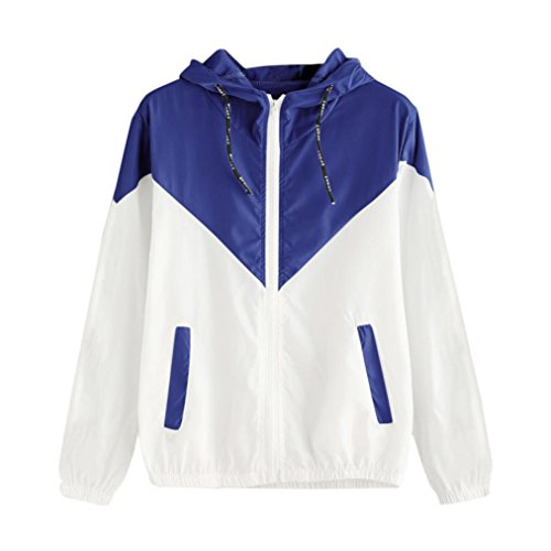 [S-XL] Damen Pulli Elegant Langarm T-Shirt Yogogo V-Ausschnitt Patchwork Mantel Druck Lässige Casual Oberteile Oversized Top Herbst Winter Sports Jacket Hoodie Sweatjacke Kapuzenpullover Ausschnitt Mantel
