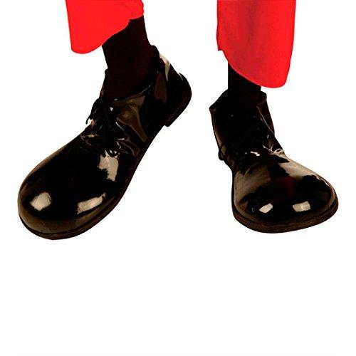 ownschuhe schwarz Clown Herrenschuhe und Damenschuhe Charlie Chaplin Faschingsschuhe Charleston Hollywood Filmstar Schuh-Paar Retro Mottoparty Accessoires Karneval Kostüm Zubehör ()