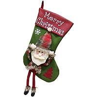 unbrand Calcetines Navidad Calcetines Presentes Santa 3D Bolsas Dulces Bordadas Colección Regalos Bolsa Muñeco Nieve Decoración