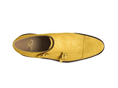 Chaussures Sur Mesure - Moine Double - Homme suède jaune