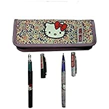 Juego bolígrafo y pluma estilográfica Hello Kitty en funda de tela–Neuf