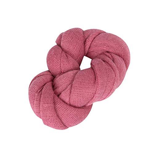 tretch Knit Solide Wrap Baby-Fotografie Props Decke Infant Foto Shooting Basket Stuffer Swaddle ()