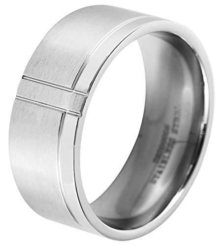 Akzent Herren-Ring aus Edelstahl Größe 64