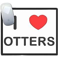 I Love Heart Otters - tappetino di plastica del mouse - Otter Ornamento