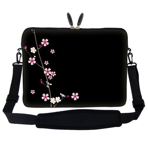 Meffort Inc 1539,6cm Neopren Laptop Sleeve Tragetasche mit Verstecktem Griff und Verstellbarem Schultergurt Plum Blossoms Design -