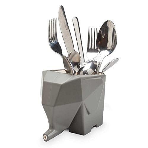 RIANZ Kitchen Home Dry Elephant Cutlery Holder Strainer Drainer Spoon Fork Organizer Dryer Storage Dock