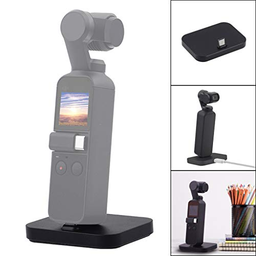 LCLrute Fast Dock Desktop Charger Station Charging Stand Cradle Station for DJI Osmo Pocket (Black) Desktop Charging Cradle