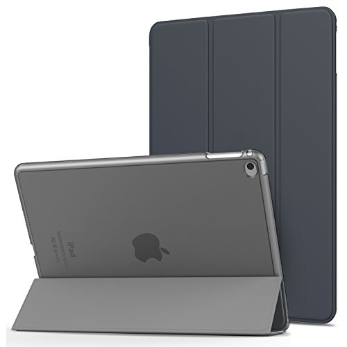 MoKo -  Funda para iPad Air 2, Ultra Slim, Función de Soporte Protector Plegable, Smart Cover, 9.7 Pulgadas - Space Gris