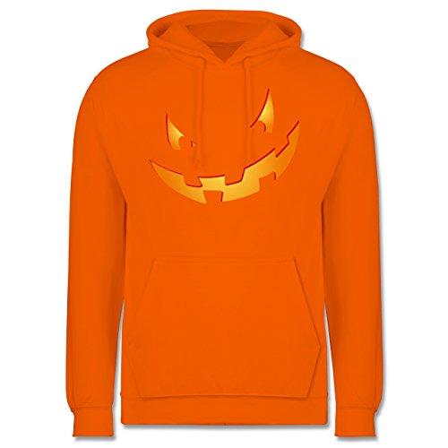 Halloween - Kürbisgesicht klein Pumpkin - S - Orange - JH001 - Herren (Halloween Kürbisse College)