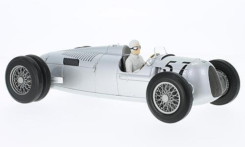 Minichamps 155361057 1: 18 Auto Union Typ C – Winner Shelsley Walsh Hillclimb 1936