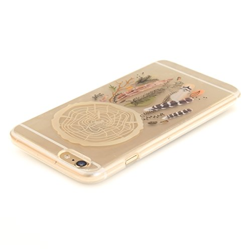 Felfy iphone 6S Plus Silikone Case,iphone 6 Plus Hülle,iphone 6s Plus Schutzhülle Ultra Dünnen Weiche Gel TPU Silikone Transparent Schutzhülle Bumper Case Handy Tasche Hülle für Apple iPhone 6 Plus/6S Campanula Farbe