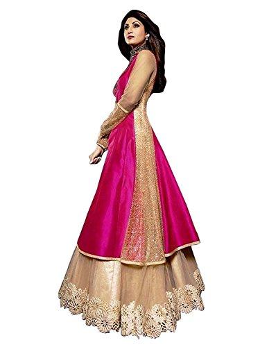 Little Lady Women\'s Cotton Silk Lehenga Choli (shilpa _pink _Free Size)