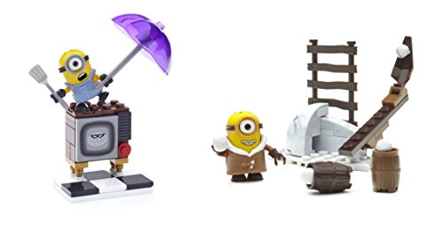 Minions - Mini escenarios divertidos de la pelicula, juego de construcción (Mattel CNF47)