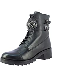 Saint G Womens Black Leather Ankle Boots