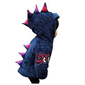 ZHMEI Abrigo con Capucha Bebés | Niño Niños Niños Niñas Bebé Dinosaurio Cartoon Fleece Coat Acolchado con Capucha Outwear12 Meses - 5 años 12