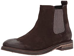 Steve Madden Mens Teller Chelsea Boot, Brown Suede, 8. 5 US/US Size Conversion M US