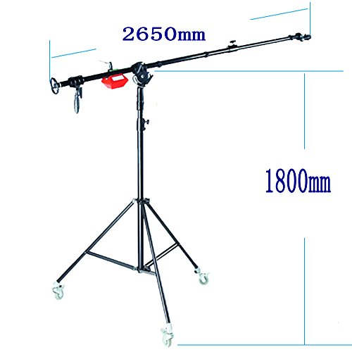 Bargain HWASTUDIO® Super Heavy Duty Boom Arm STAND 6kg Counterweight wheels Rotatable Large Quality (SUPER Boom Stand) Discount