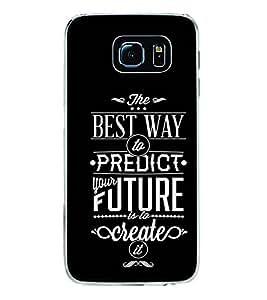 Fuson Designer Back Case Cover for Samsung Galaxy S6 Edge+ :: Samsung Galaxy S6 Edge Plus :: Samsung Galaxy S6 Edge+ G928G :: Samsung Galaxy S6 Edge+ G928F G928T G928A G928I (Future Create Motivational Ispirational Quote)