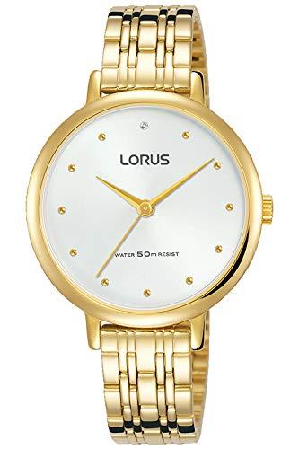 Lorus Woman Reloj para Mujer Analógico de Cuarzo con Brazalete de Acero Inoxidable bañado en Oro RG272PX9