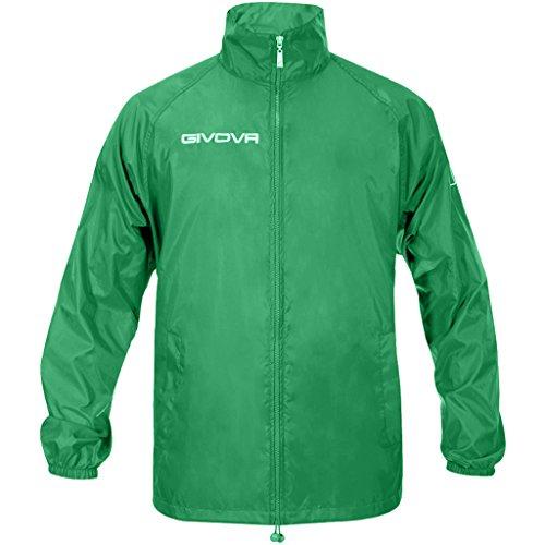 Givova rj001, Jacke Wasserdicht Unisex Erwachsene XL Grün (Grüne Nylon Mantel)