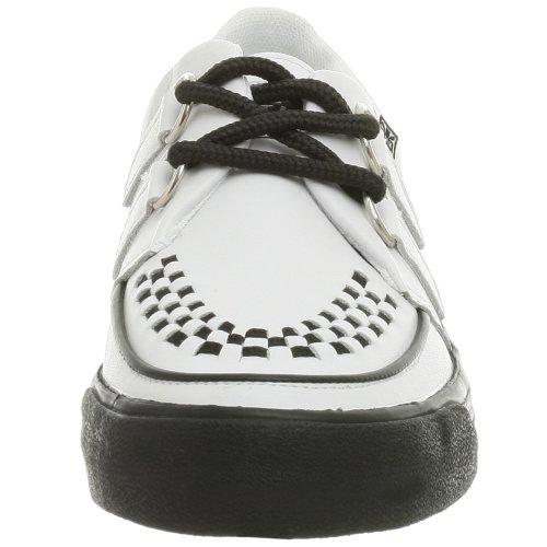 T.U.K. 2 Ring Creeper A6092, Baskets mode mixte adulte Blanc (White Black)